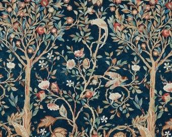 "One Curtain Panel ""FreeSpirit Orkney Melsetter Indigo"" Fabric, FreeSpirit Fabrics, Morris & Co. Bold, Elegant Home Decor"