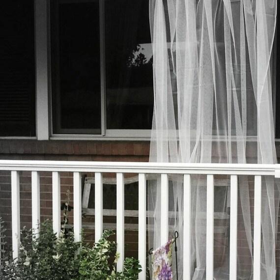 Eine Weisse Outdoor Vorhang Sheer Netz Spitze Garten Platten Etsy