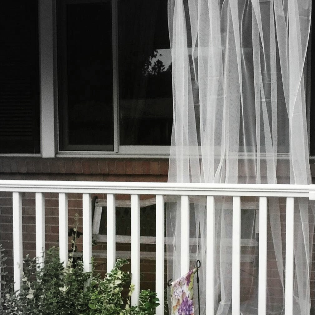 One White Outdoor Curtain Sheer Net Lace Garden Panels Etsy