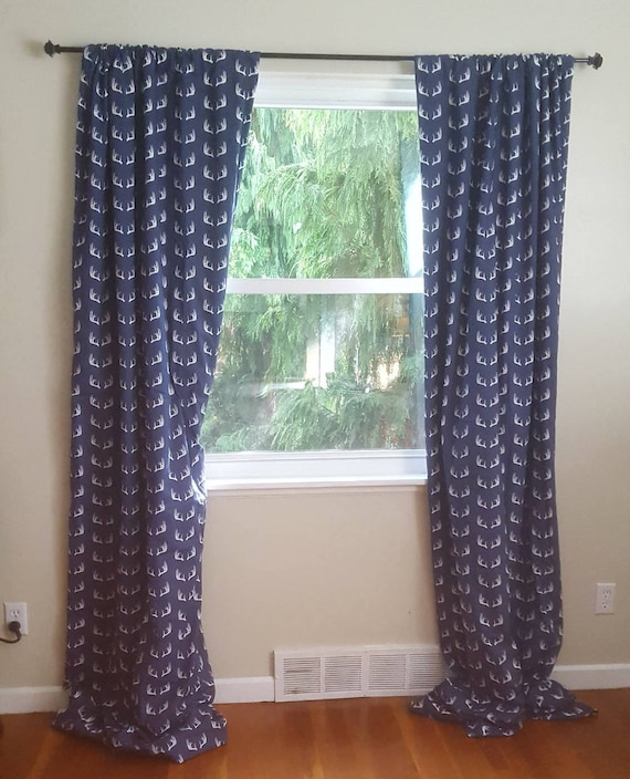 one curtain panel on window 12 foot wide window image deer antler one curtain panel blackout lining optional etsy