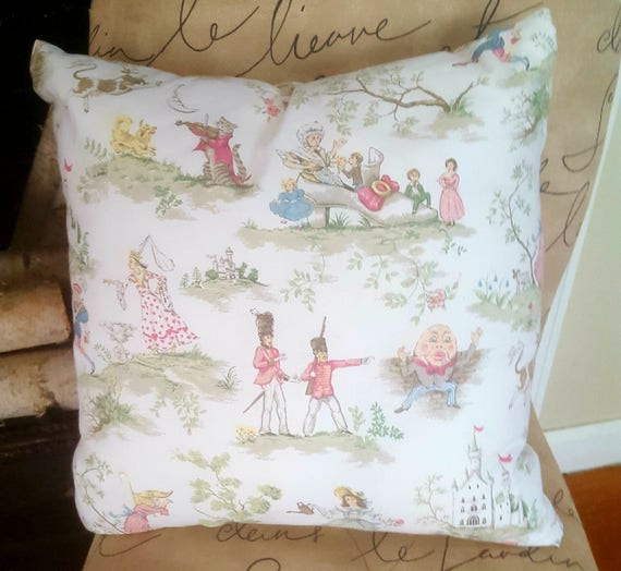 Nursery rhyme pillow | Etsy