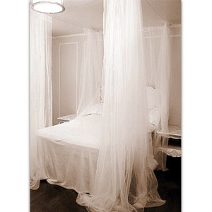 queen size bed canopy curtains diy