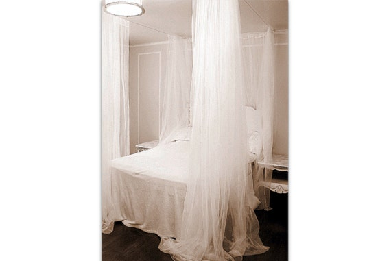 Hervorragend Queen Size Bett Baldachin Vorhänge DIY Schier Shabby Und