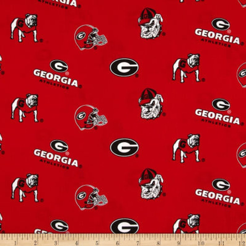 Shower Curtain Georgia Bulldogs Decorative Button Hole Top Or Grommet Top.  Bachelor Pad Bathroom, Dorm Shower Curtain, Man Cave, Football