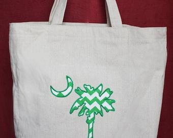 Palmetto Tree Tote Bag - Applique