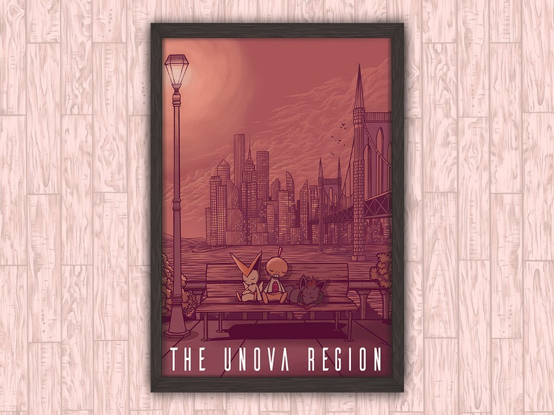 The Unova Region  Pokemon Anime Video Game Inspired Travel image 0
