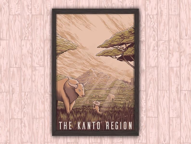 The Kanto Region  Pokemon Anime Video Game Inspired Travel image 0