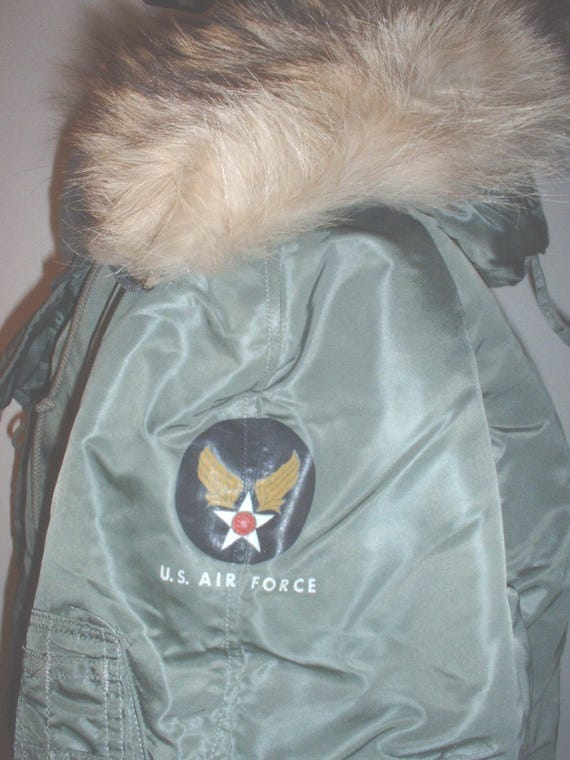 USAF US Air Force extreme cold weather parka N 3B, medium, Southern Athletic 1962, lupis ruff
