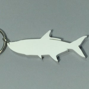 Stainless Steel Keychain Salmon Fish Keychain Eco Friendly Gifts for Fishermen Recycled Materials