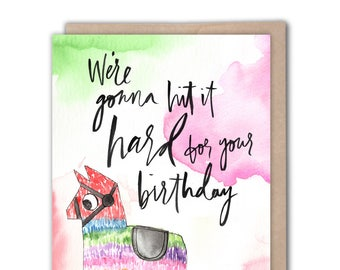 Birthday Card Rainbow Unicorn Funny