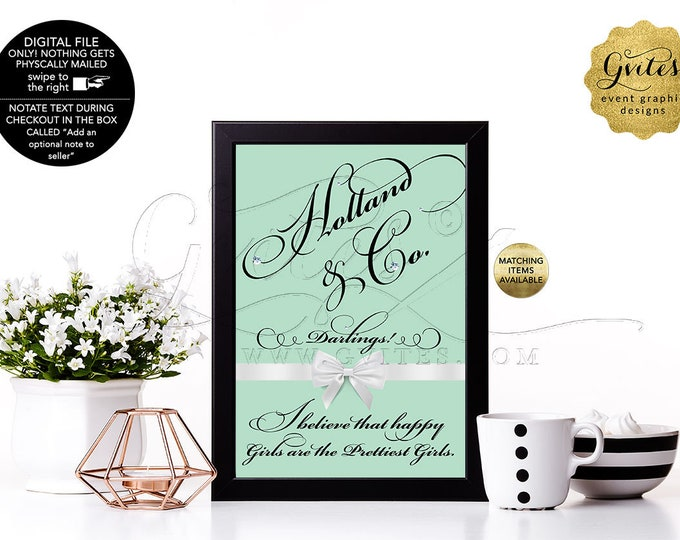 Wedding Table Signs With Your Favorite Audrey Hepburn Quote or Your Own Custom Text Avail: 4x6, 5x7 & 8x10