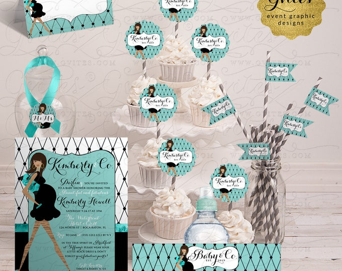 Baby and Co Baby Shower Printable Package 6-Pc  | Digital File Only! JPG + PDF Format | By Gvites