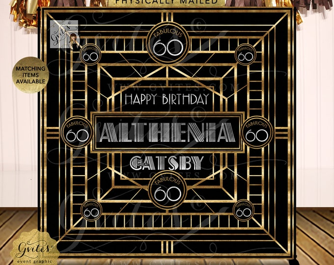 The Great Gatsby Happy 60th Birthday Personalized |  Digital File | JPG + PDF | By Gvites