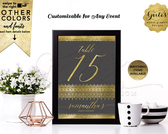 """Personalized Table Numbers 