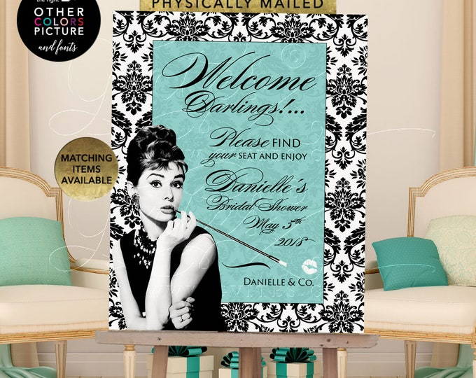 Bridal Shower Welcome Sign, Can be personalized with your name and date. This is a Digital File Only. Nothing Gets Physically Mailed. DIY.