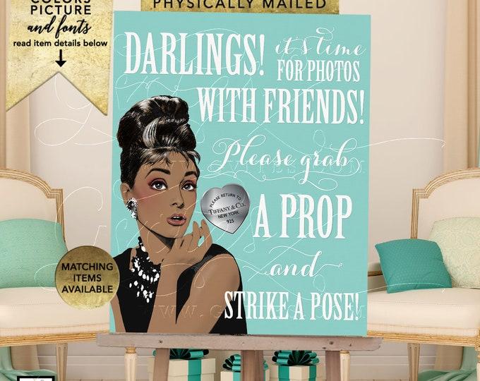 "Audrey Hepburn Photo Booth Sign Printable Decorations   JPG + PDF 8x10"""