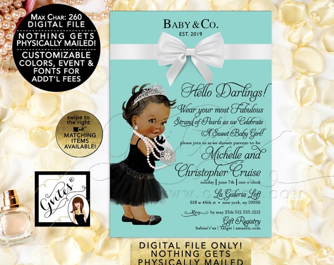 """Baby and Co Baby Shower Printable Invitations. Customizable Text. Matching items are available! 5x7"""" Digital File Only!"""