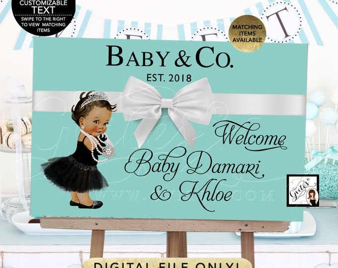 Baby and Co Backdrops For Dessert Table, Decorations, baby and co baby shower, poster signs baby shower, birthdays, blue decor, DIY, Digital