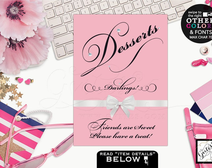 Dessert sign Breakfast at bridal shower signs, quotes, table decorations, thank you sign, birthday thank you sign. Avail: 4x6, 5x7 & 8x10