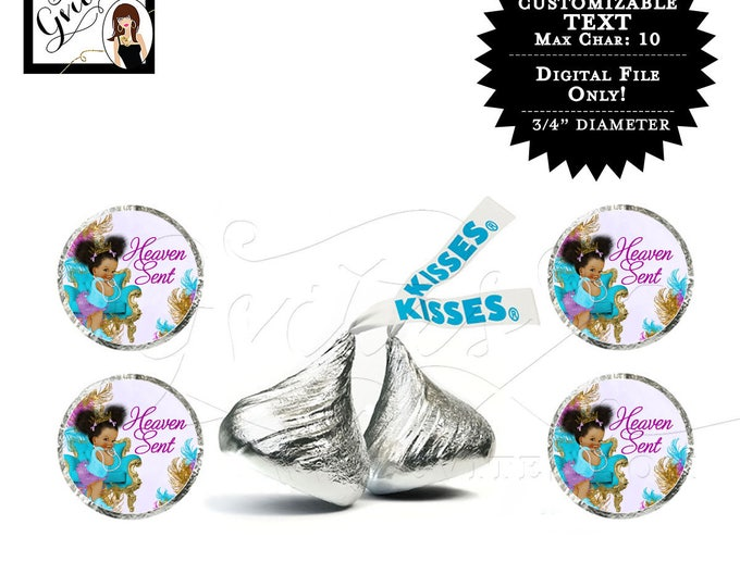 Hershey kiss sticker labels purple gold silver princess baby shower {Designed For Avery® 41568}   Design: TIACH-105 By Gvites