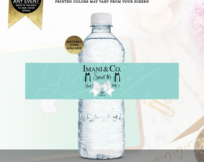 Water Labels Breakfast at Co Themed Party Decorations Party Favors