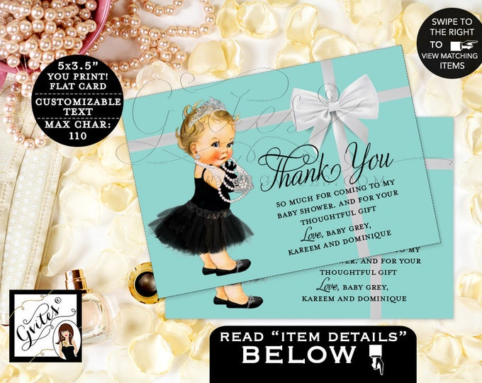 "Baby and Co Baby Shower Thank You Cards, Breakfast at, baby shower DIGITAL {3.5x5"" 4 Per/Sheet}"