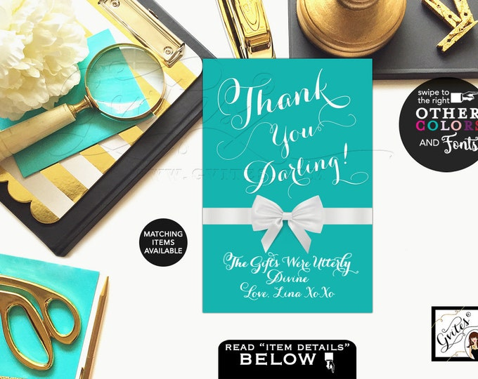 Bridal Shower Decor Thank you darling sign, breakfast at themed, party signs, decorations. Available in 4x6, 5x7 & 8x10.