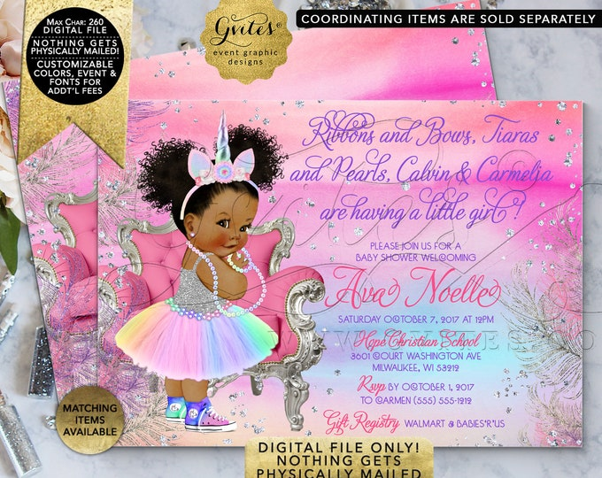 """Unicorn Baby Shower Invitation 