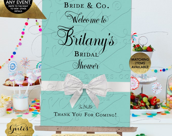 Welcome Bridal Shower Shower Signage Poster Signs Decorations | Digital File JPG + PDF | By Gvites