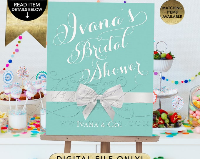 Bridal Shower Decorations | Digital File Only | JPG + PDF Format Emailed Electronically | By Gvites