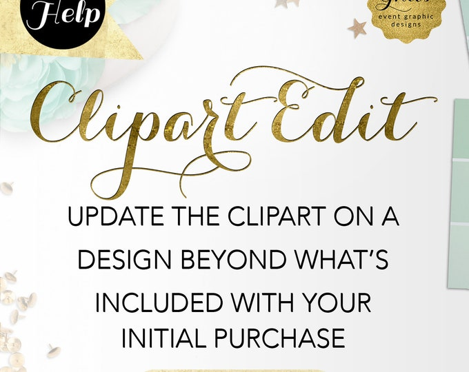 Edit Clipart - Update the clipart on a design beyond what's included with your initial purchase