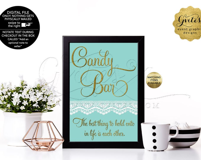 Personalized Birthday or Bridal Table Signs With Personalized Audrey Hepburn Quote. Breakfast blue themed, DIY, Digital file. 4x6 or 5x7