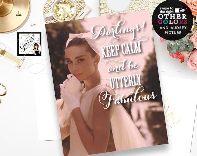 Custom Audrey Hepburn Poster Print. Digital File Only!