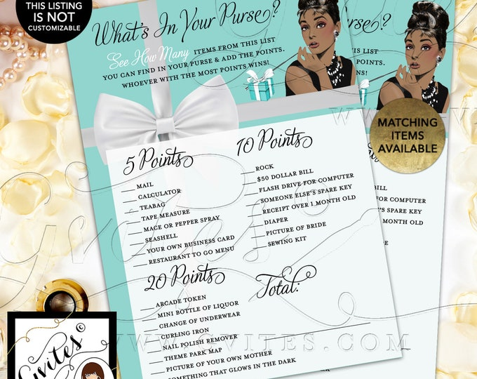 """What's in your purse Audrey Hepburn 