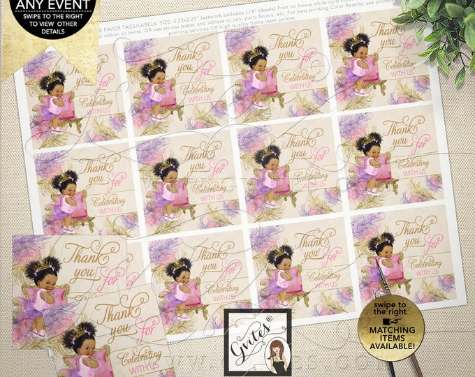 """Baby Shower Thank You Tags or Labels 
