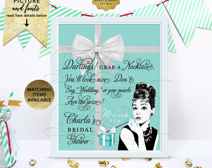 Printable Pearl Game Sign Personalized Name/Event and date. 8x10 Digital File Only!