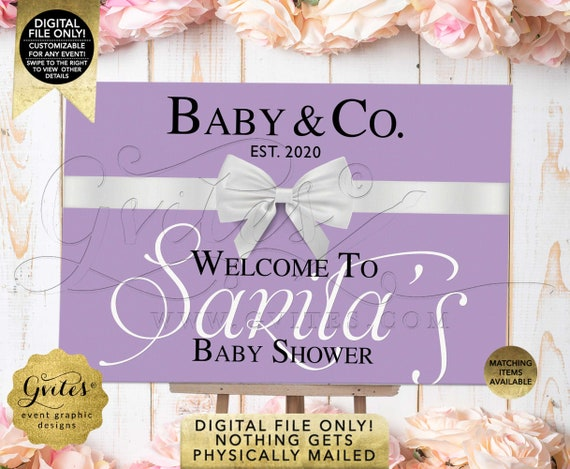 Baby & Co Backdrop Baby Shower Theme Welcome Sign Poster Decoration. Digital File Only! Nothing Gets Physically Mailed!