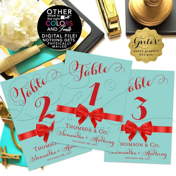 Personalized Wedding Table Numbers. Any Color. Customizable For Any Event!