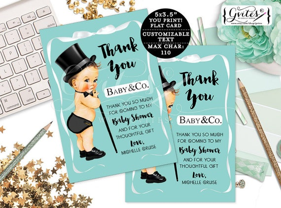 Baby & Co Baby Shower thank you cards