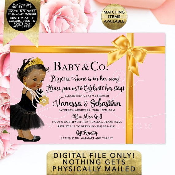 """Baby & Co Baby Shower Invitation 