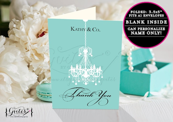 Birthday thank you card printable custom