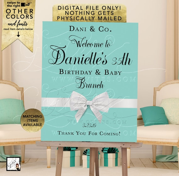 Welcome Birthday Baby Shower Signage Poster Signs Decorations | Digital File JPG + PDF