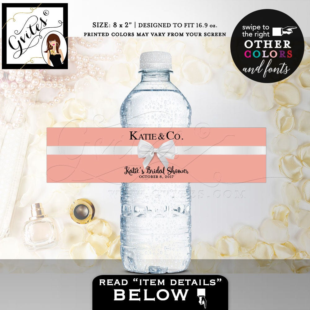 Bridal Shower water labels, customizable stickers, party bridal ...