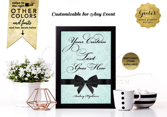 "Custom Quote Signs For Bridal Shower/Birthday Table Decorations/Centerpiece. {4x6"" or 5x7""}"
