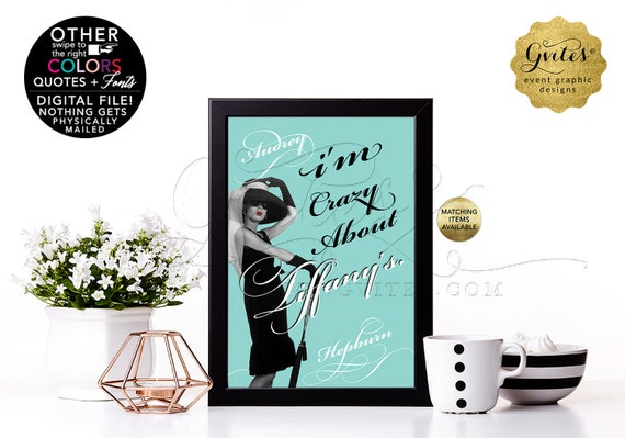 Audrey Hepburn Customizable Quote Print