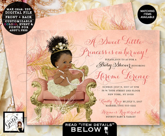 """Coral and Gold Baby Shower 