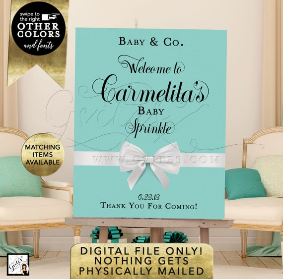 Baby Shower/ Baby Sprinkle Signage Poster/ Baby Welcome signs and Decorations/ Breakfast and Co/ Digital Printable/ Gvites/ Vintage Cards.