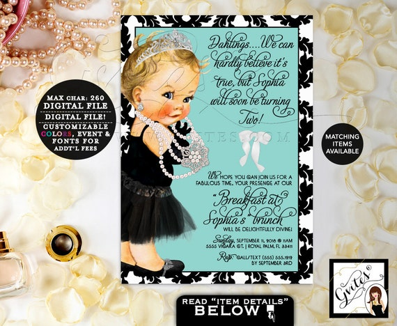Baby Co First Birthday Printable Invitation