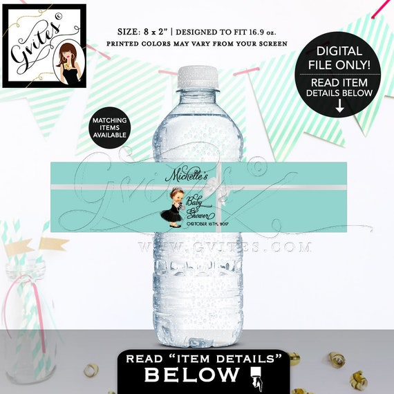 Baby and Co water labels Customizable