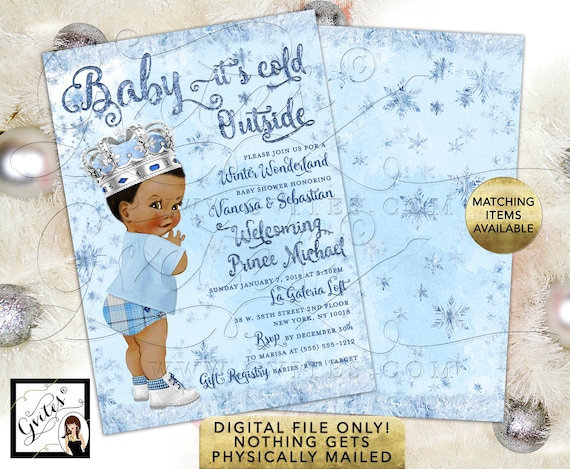 Baby it's Cold Outside Winter Wonderland Baby Shower Invitations